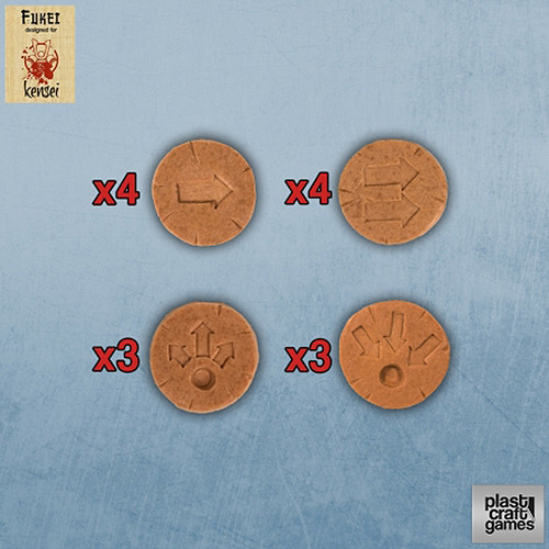 Plast Craft: Kensei - Movement Actions Markers (Terracotta) (14)