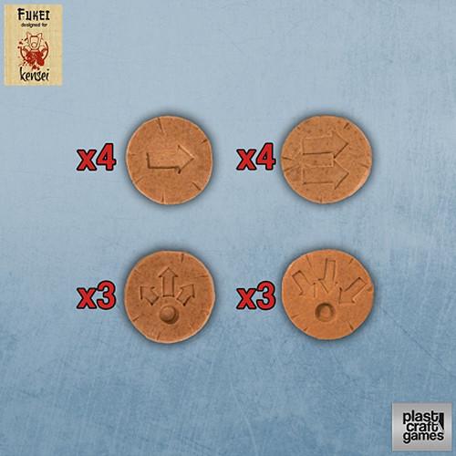 Plast Craft: Kensei - Movement Actions Markers (Terracotta) (14)