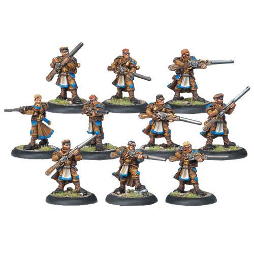 Warmachine: Cygnar - Long Gunners Infantry Unit Box (10)