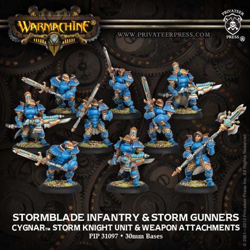 Warmachine: Cygnar - Stormblade Infantry Unit Box (9)