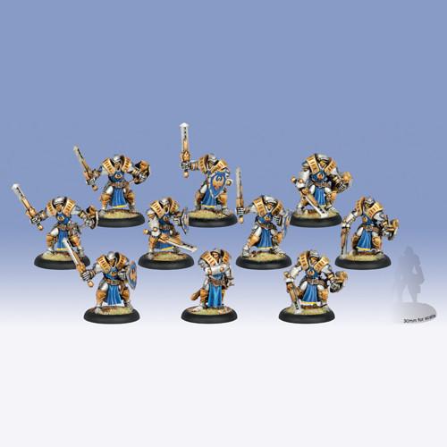 Warmachine: Cygnar - Sword Knights Unit Box (10)
