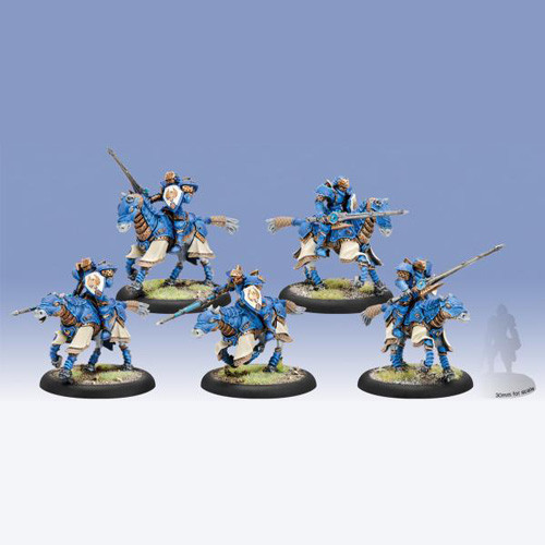 Warmachine: Cygnar - Storm Lances Cavalry Unit (5)