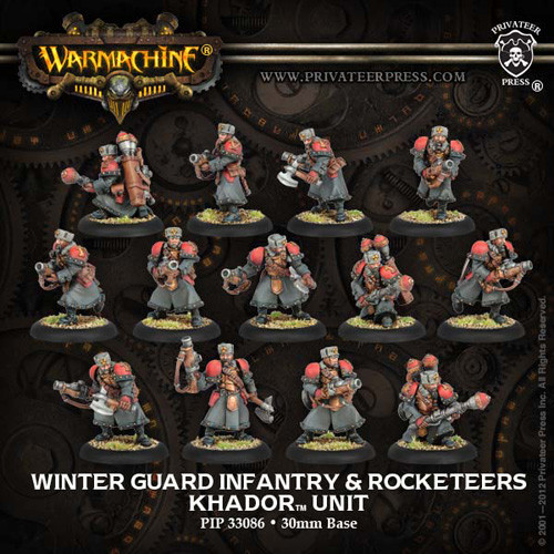 Warmachine: Khador - Winter Guard Infantry & Rocketeers Unit Box (13)