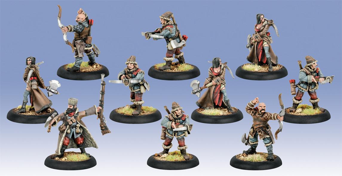 Warmachine: Khador - Kossite Woodsmen Unit (10)