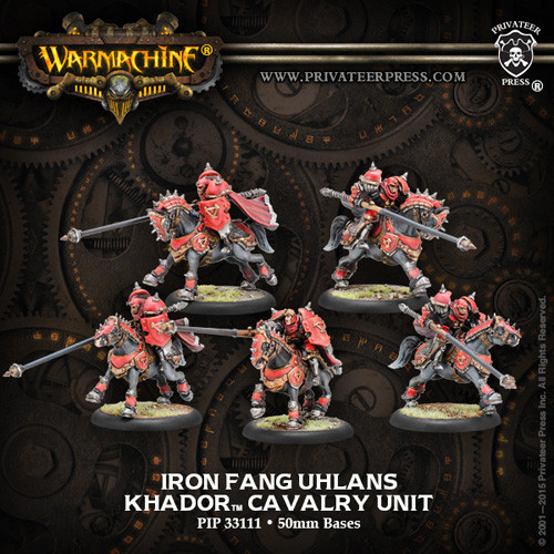 Warmachine: Khador - Iron Fang Uhlans Cavalry Unit (5)