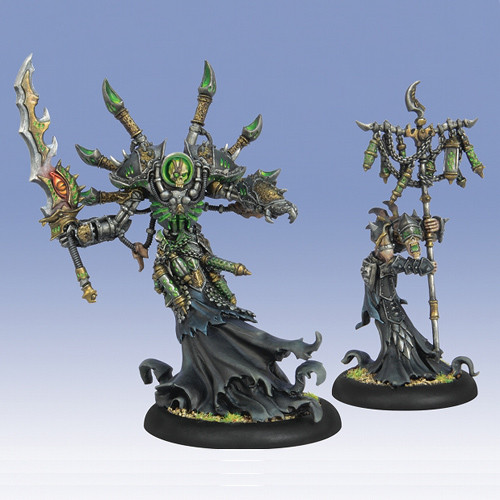 Warmachine: Cryx - Warcaster Asphyxious the Hellbringer & Vociferon