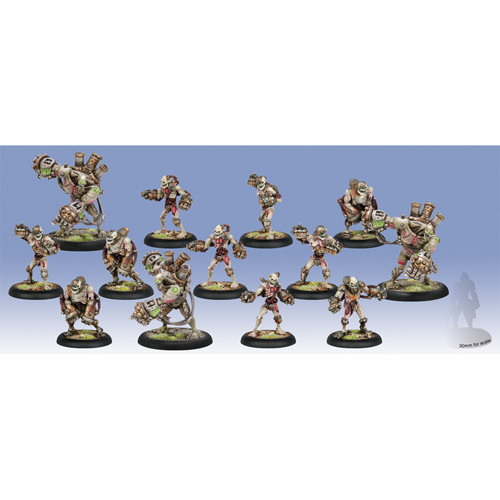 Warmachine: Cryx - Mechanithralls Unit with 3 Weapon Attachments (13)