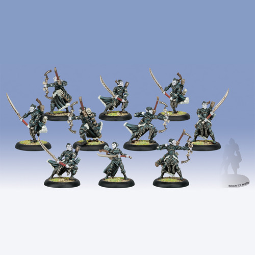 Warmachine: Mercenaries - Cylena Raefyll & Nyss Hunters Unit Box (10)