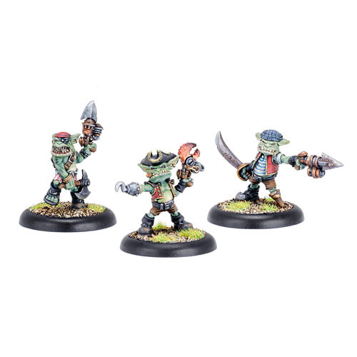 Warmachine: Mercenaries - Swamp Gobber River Raiders, Sea Dogs (3)