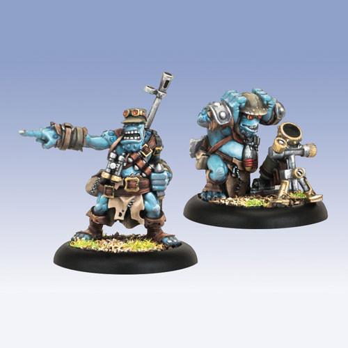 Hordes: Trollbloods - Pyg Bushwacker, Officer & Mortar Attachment (2)