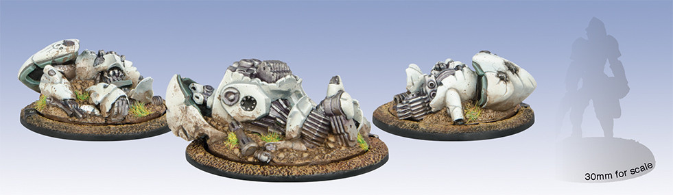 Warmachine: Retribution - Myrmidon Wreck Markers
