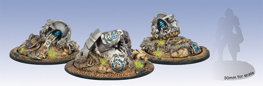 Warmachine: Convergence - Vector Wreck Markers