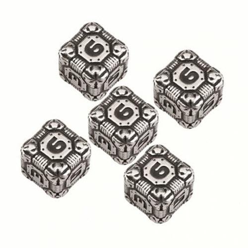 Tech Dice: Metal D6 Set (5)