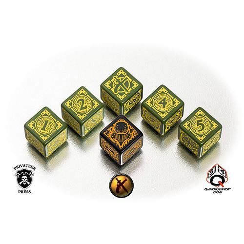 Q-Workshop Warmachine Faction Dice Set - Mercenaries