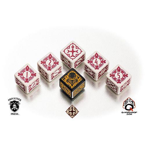 Q-Workshop Warmachine Faction Dice Set - Protectorate of Menoth