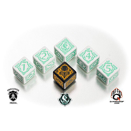 Q-Workshop Warmachine Faction Dice Set - Retribution of Scyrah