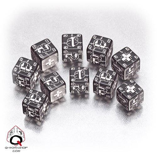 Q-Workshop Black & White Small German Battle Set (10)