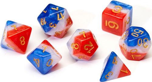 Sirius Dice: Pearl Red, White, Blue (7)