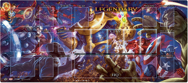 Legendary: Marvel Deck Building Game - Thanos vs Avengers Playmat