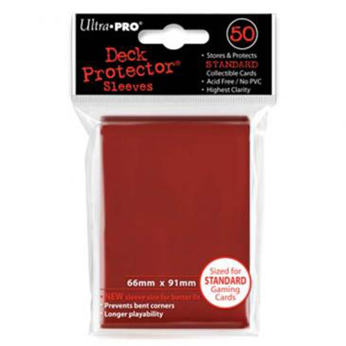 Ultra Pro Sleeves: Red (50)