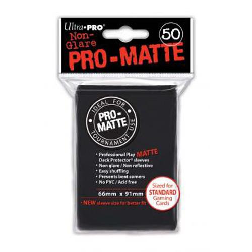 Ultra Pro Sleeves: Pro Matte - Black (50)