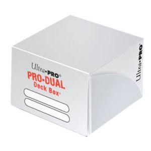 Ultra Pro Deck Box: Pro-Dual Deck Box - White