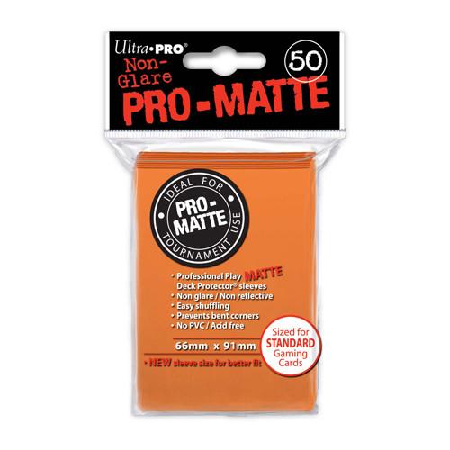 Ultra Pro Sleeves: Pro Matte - Orange (50)