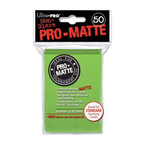 Ultra Pro Sleeves: Pro Matte - Lime Green (50)