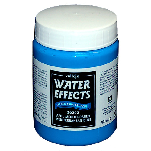Vallejo Water Effects: Mediterranean Blue (200ml)