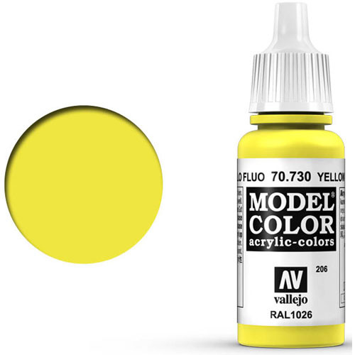 Vallejo Model Color Paint: Fluorescent Yellow