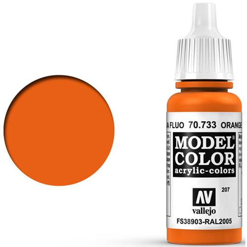 Vallejo Model Color Paint: Florescent Orange