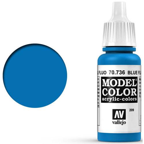 Vallejo Model Color Paint: Fluorescent Blue