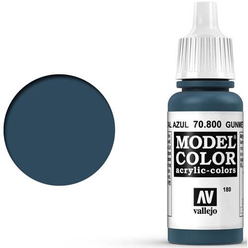 Vallejo Model Color Paint: Gunmetal Blue