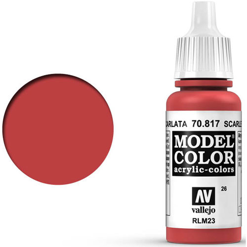 Vallejo Model Color Paint: Scarlet