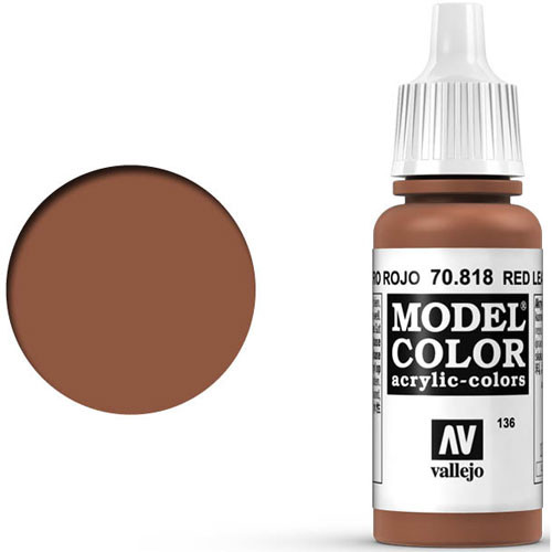 Vallejo Model Color Paint: Red Leather
