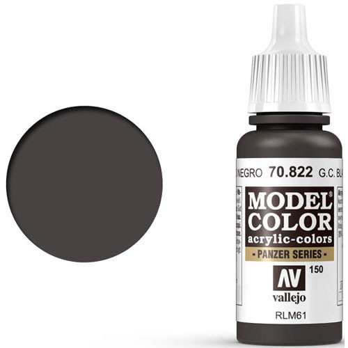 Vallejo Model Color Paint: German Camouflage Black Brown