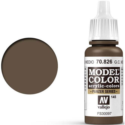 Vallejo Model Color Paint: German Camo Medium Brown