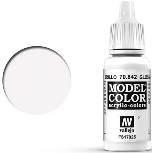 Vallejo Model Color Paint: Gloss White