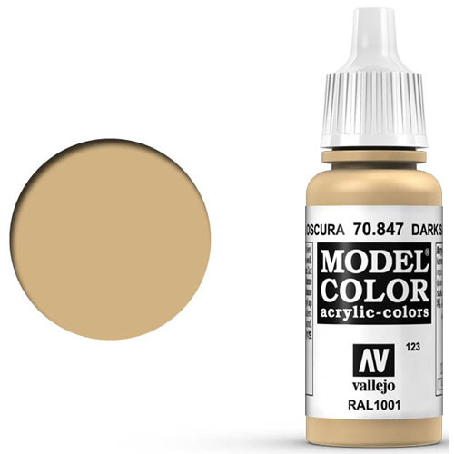 Vallejo Model Color Paint: Dark Sand