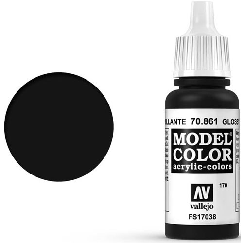 Vallejo Model Color Paint: Glossy Black