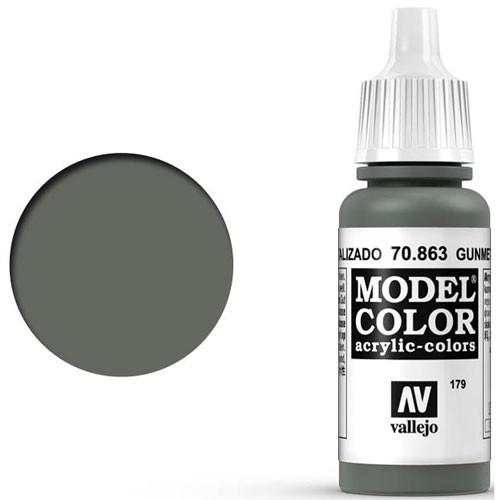 Vallejo Model Color Paint: Gunmetal Grey