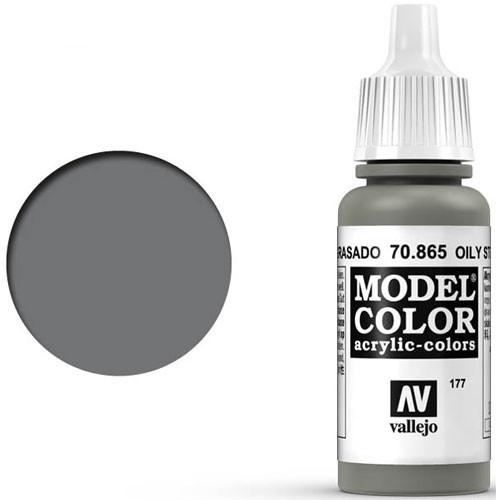 Vallejo Model Color Paint: Oily Steel