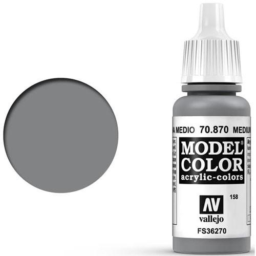 Vallejo Model Color Paint: Medium Sea Grey