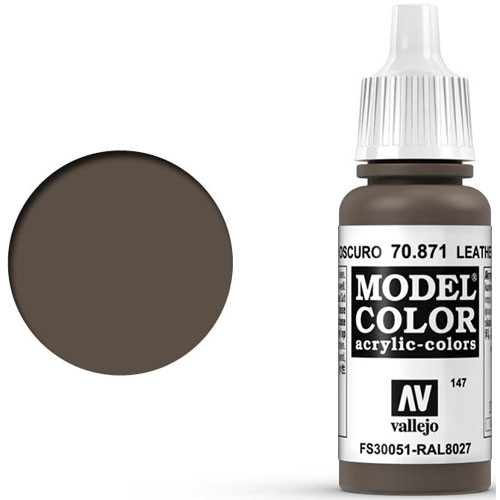 Vallejo Model Color Paint: Leather Brown