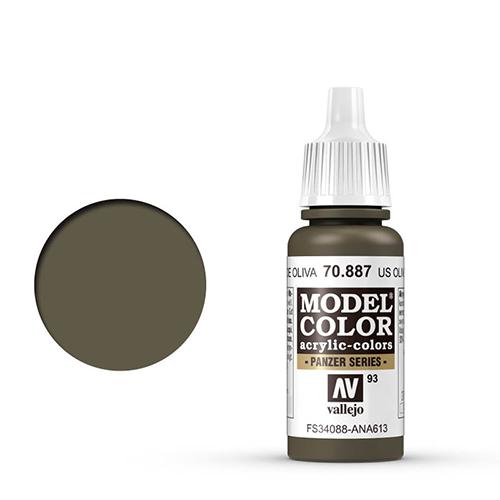 Vallejo Model Color Paint: US Olive Drab