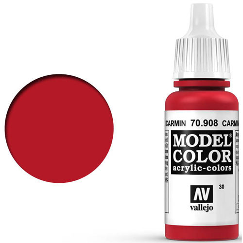 Vallejo Model Color Paint: Carmine Red