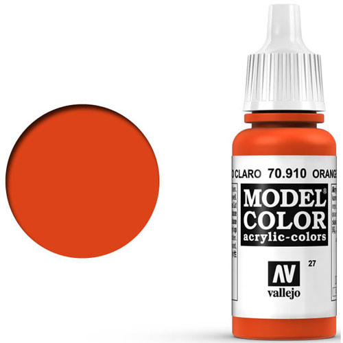 Vallejo Model Color Paint: Orange Red