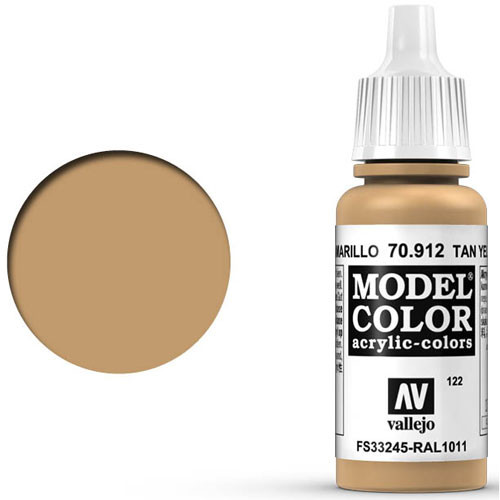 Vallejo Model Color Paint: Africa Korps Tan Yellow