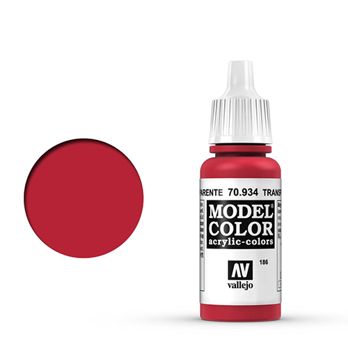Vallejo Model Color Paint: Transparent Red