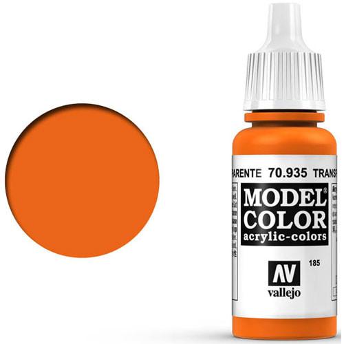 Vallejo Model Color Paint: Transparent Orange